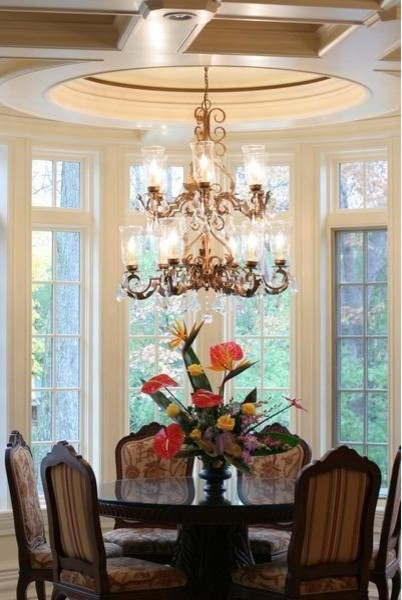 Lake Forest Custom Home traditional-dining-room