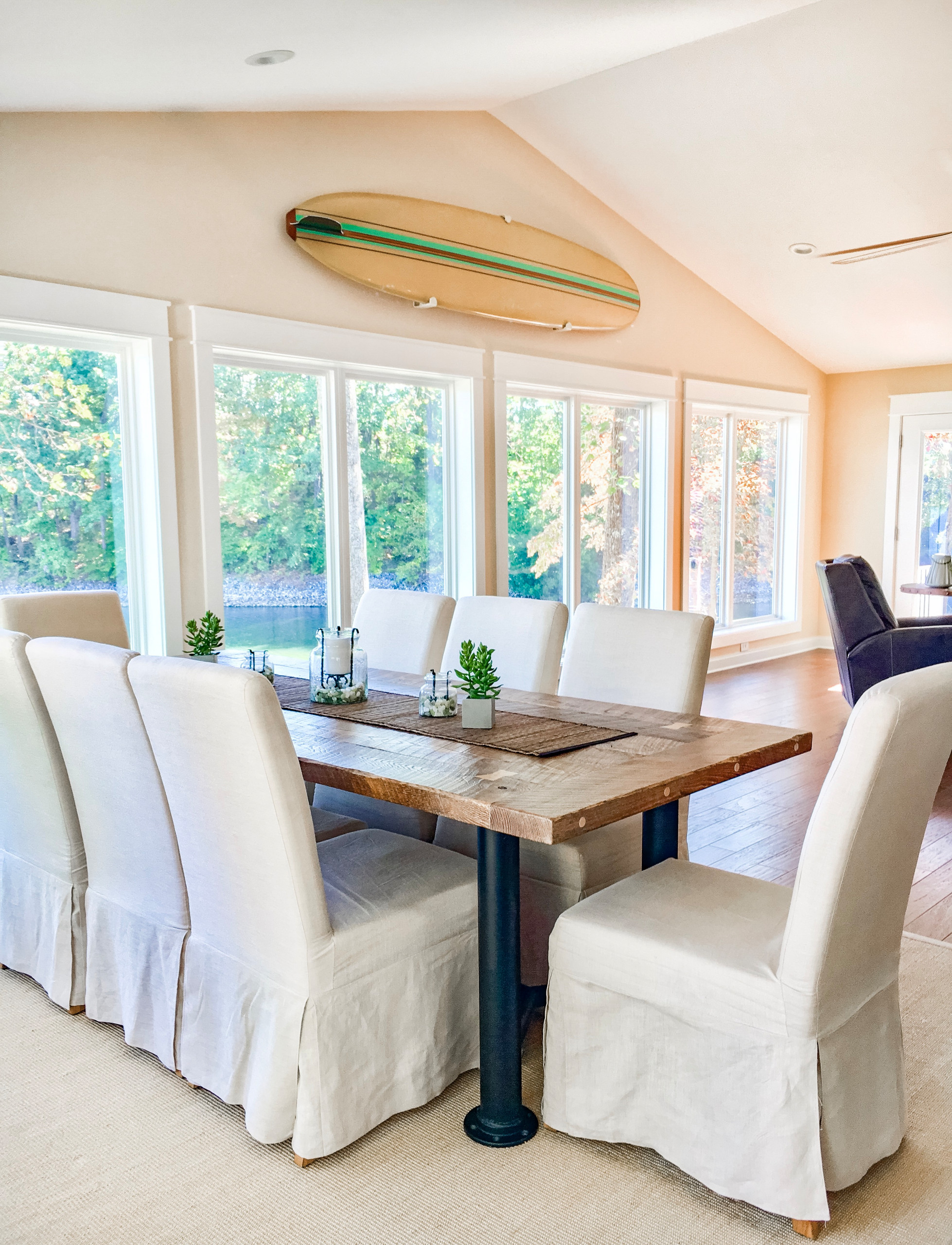 Lake front cotttage - bringing the outdoors in on Lake Norman