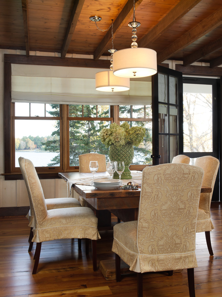 Inspiration for a farmhouse dining room remodel in Philadelphia