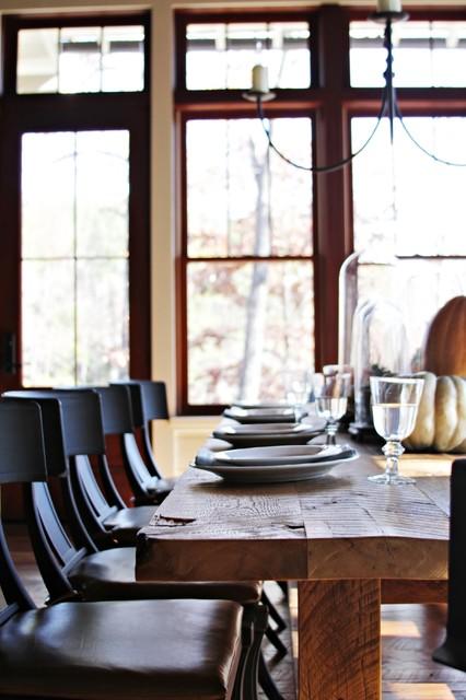 Lake House beach-style-dining-room
