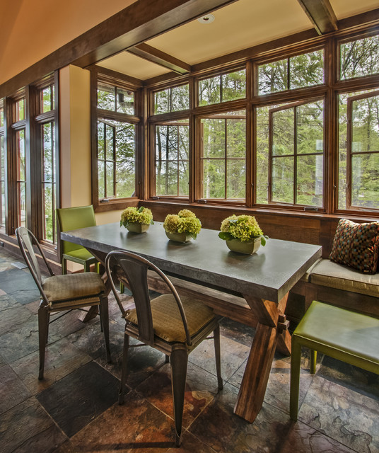 Lake Michigan Home Rustic Dining Room Milwaukee By