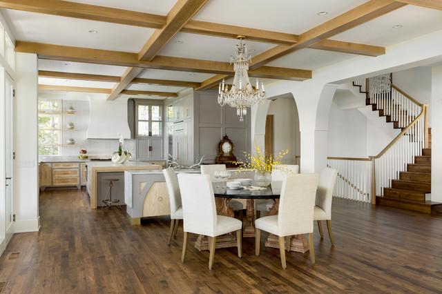 Lake Minnetonka Equestrian Influence farmhouse-dining-room