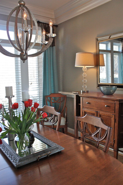Lake Norman transitional-dining-room