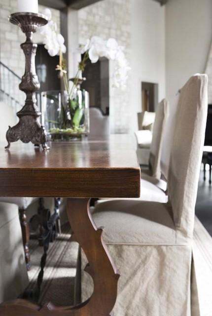 Lake Residence transitional-dining-room