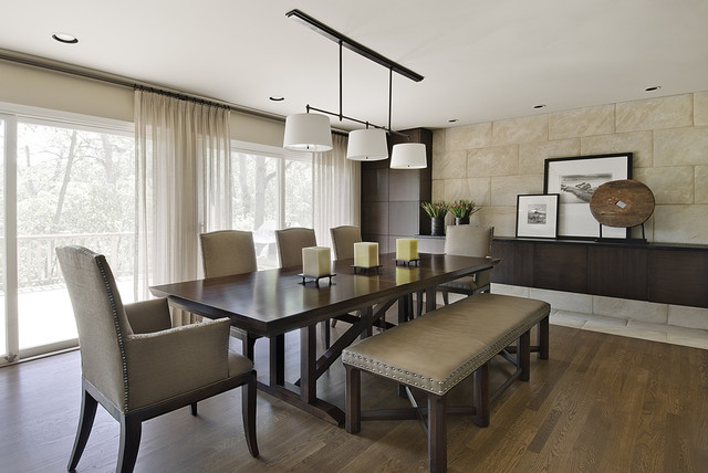 Lake road dining room contemporary dining room for Small contemporary dining room ideas