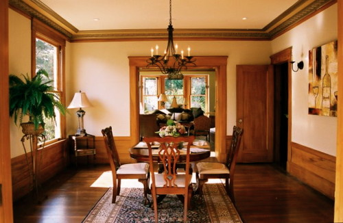 Love the paint color with the gumwood trim what is the Victorian dining room colors