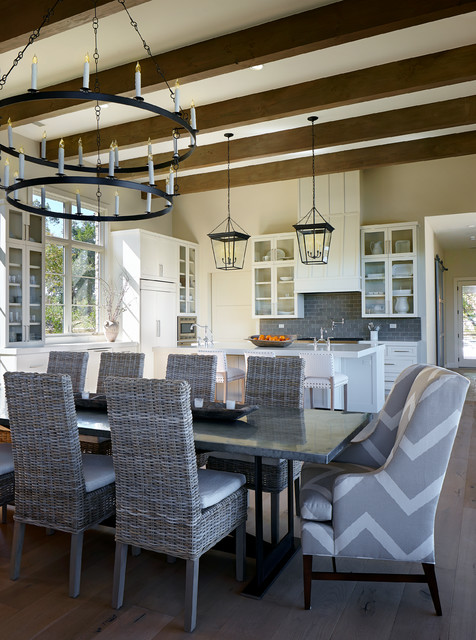 Lake Travis Lakehouse Transitional Dining Room