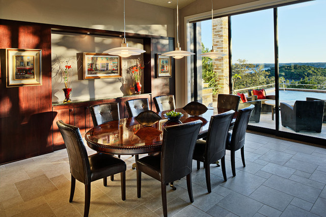 Lake View contemporary-dining-room