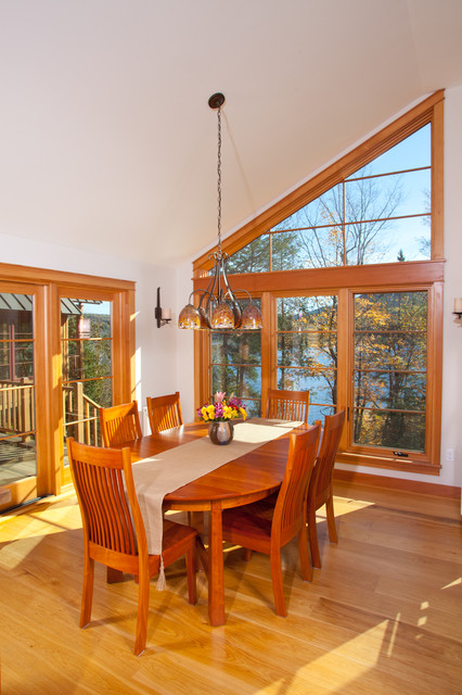 Lakefront Home in Western Maine rustic-dining-room