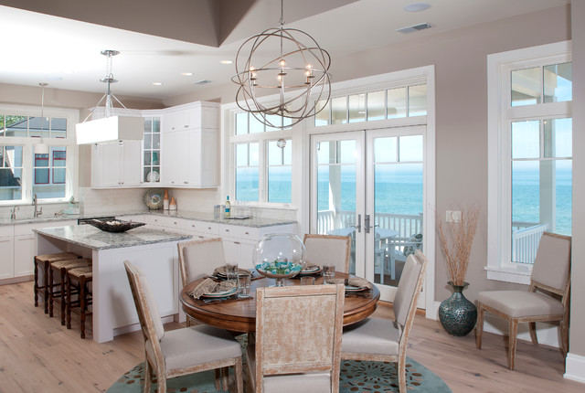 Lakefront Living III beach-style-dining-room