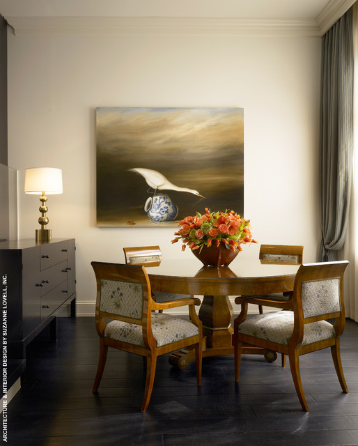 Lakefront townhouse contemporary dining room chicago for Dining room ideas for townhouse