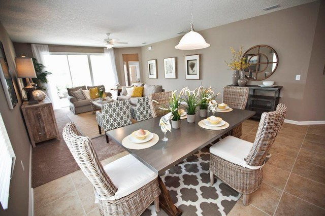 Inspiration For A Beach Style Dining Room Remodel In Jacksonville