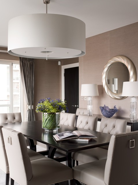 Lancelot Place, Knightsbridge transitional-dining-room