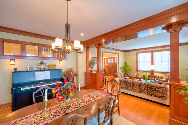 craftsman style dining room | houzz