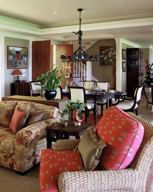 Tropical Dining Room: Lanikai Beach Grand Cottage
