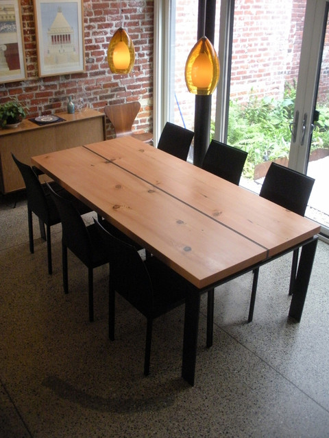 Lantern House Furniture Dining Table in Reclaimed Yellow Pine