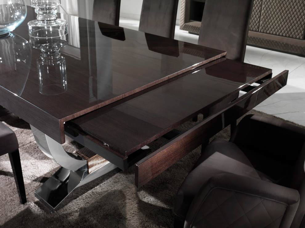 Large Modern Italian Veneered Extendable Dining Table Set Contemporary Dining Room London By Juliettes Interiors Ltd