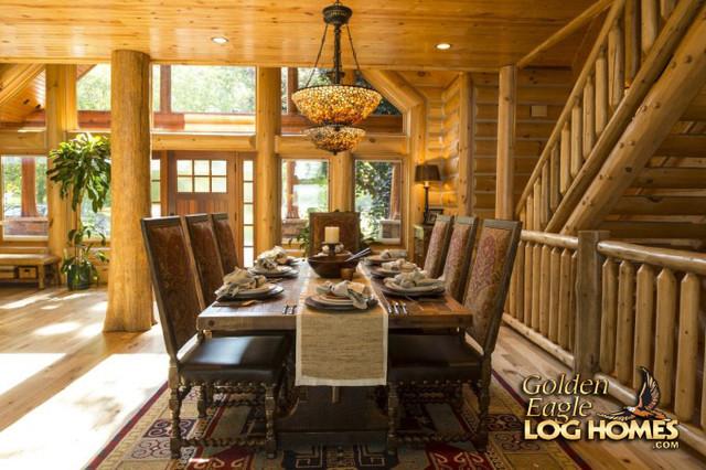 Lakehouse 4166AL rustic-dining-room