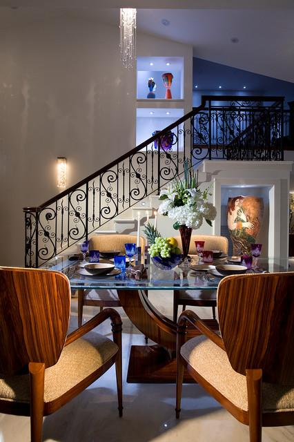 Las Olas Isles Private Residence contemporary-dining-room