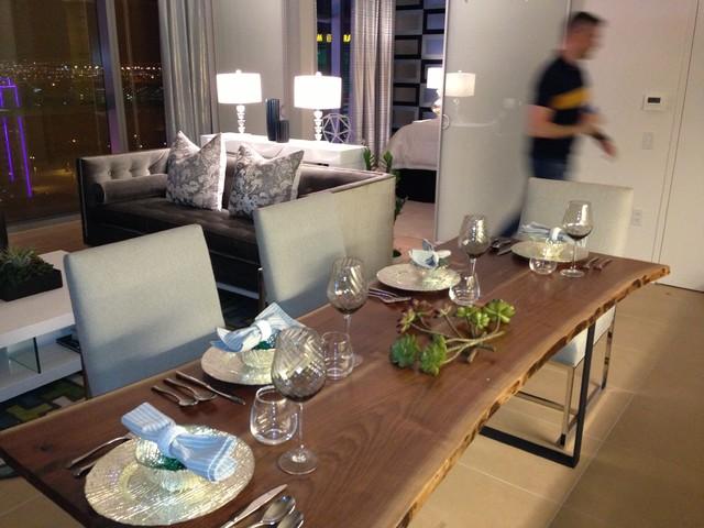 Las vegas model homes contemporary-dining-room