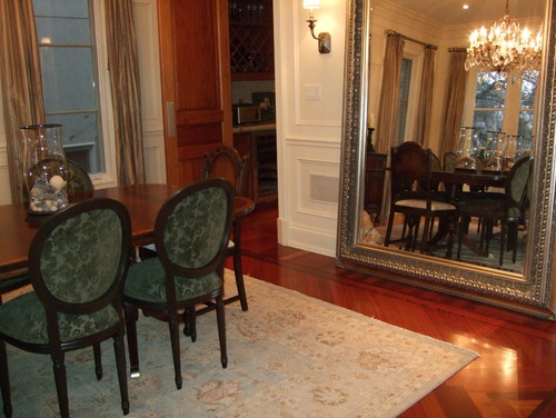 A Huge Mirror With An Elegant Frame Works Well In This Formal Dining Room Size Is Usually Custom Made And You Can Check Local