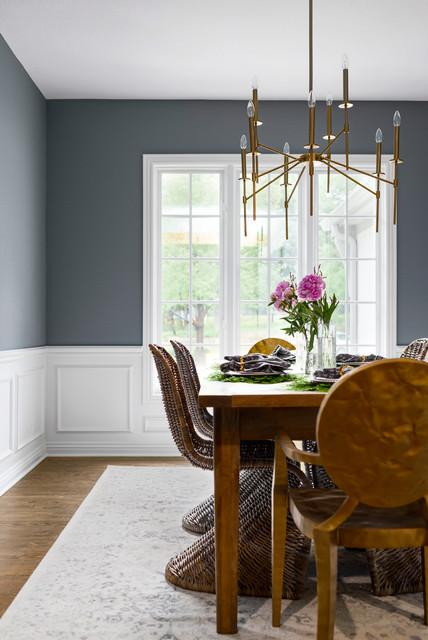 Dining Room Chairs Kansas City leawood renovation - transitional - dining room - kansas city -