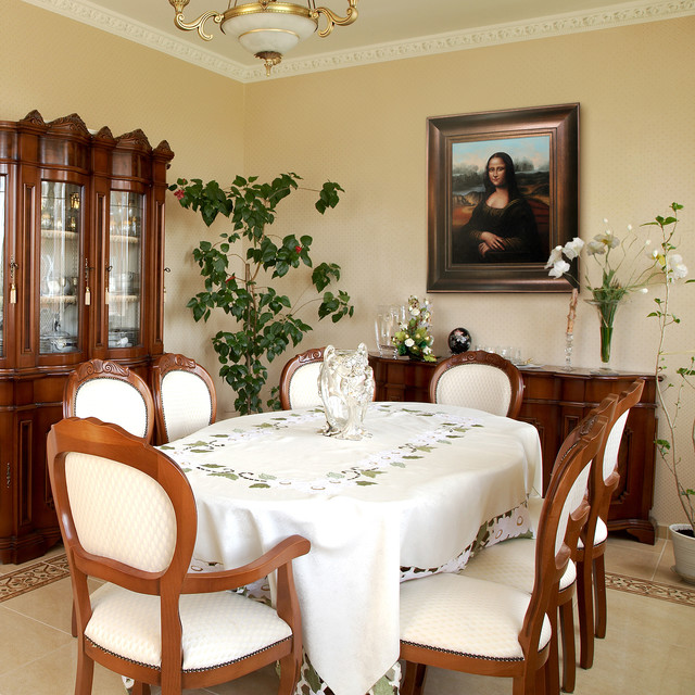 Leonardo da vinci mona lisa traditional dining room for Leonardo s dining room