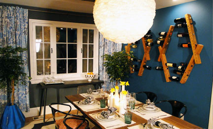 LETTER FOUR's Design for HGTV's Room Crasher's Episode 108, Eclectic Party Pad eclectic-dining-room