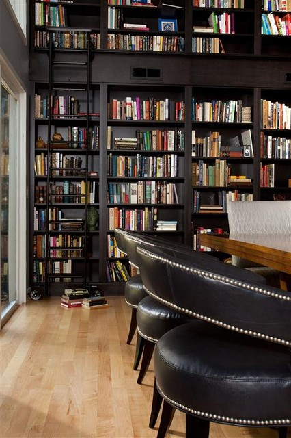 Library Wall modern-dining-room