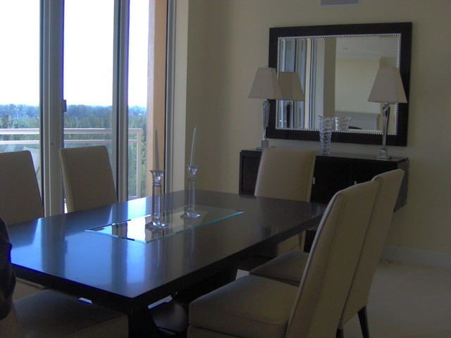 Lido condo transitional-dining-room