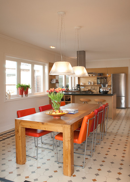 dutch treat dining roomkitchen floor tile by winckelmans contemporary dining room - Floor Tiles For Dining Room