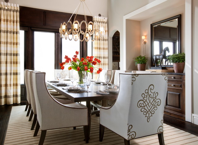 Lighting is EVERYTHING! contemporary-dining-room