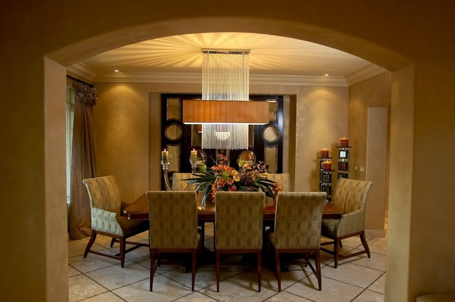 Lights Camera Glamour contemporary-dining-room