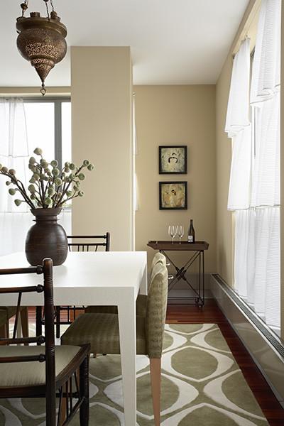 Lilu interior design loft eclectic dining room for Loft dining room ideas