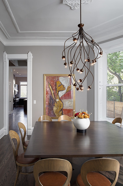 Lincoln Park Residence contemporary dining room