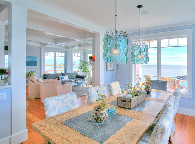 linden point beach style dining room bridgeport by ck