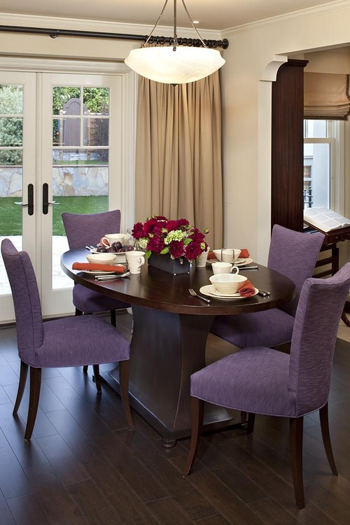 eclectic dining room Color of the Month: Decorating with Purple
