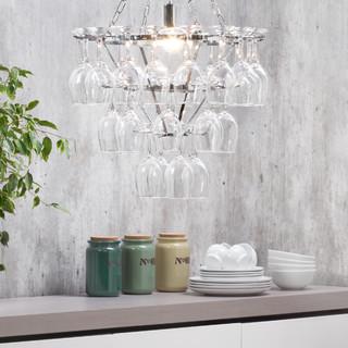 Litecraft New Wine Glass Chandelier Silver