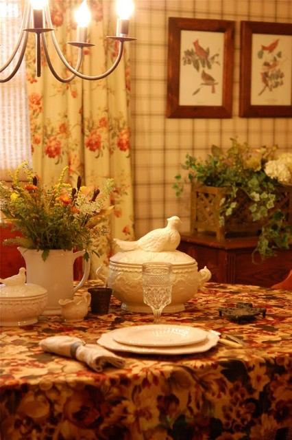 little red house traditional-dining-room