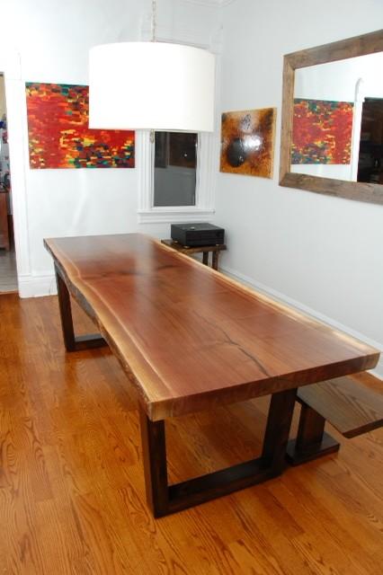 Live Edge Black Walnut Single Slab Table Contemporary Toronto By Tree Green Team