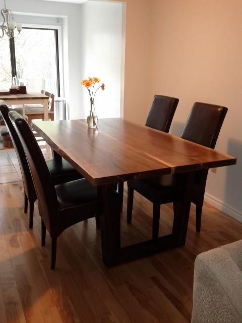 live edge black walnut table dining table craftsman dining room toronto by tree green team. Black Bedroom Furniture Sets. Home Design Ideas