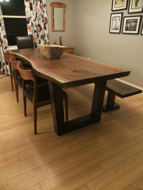 Live Edge Black Walnut Table Wood Slab High End Arts And Crafts
