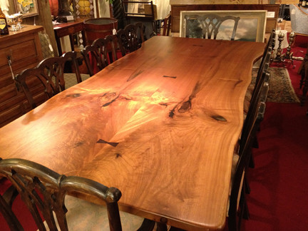 Live Edge Butternut Dining Room Table - Brooks Custom ...