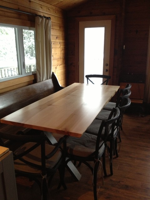Live edge tables toronto ontario slab table traditional for Dining room tables toronto