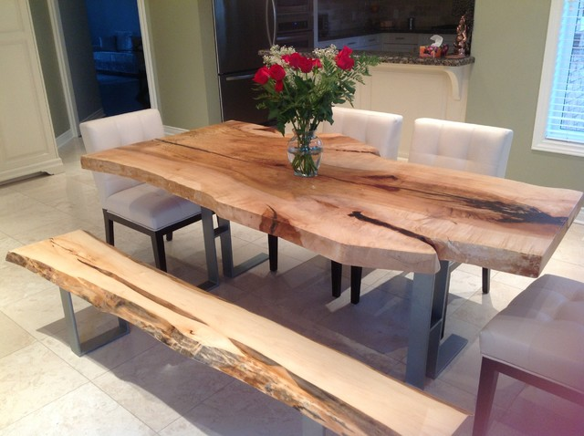 Toronto Live Edge Wood Dining Room Tables - contemporary - dining