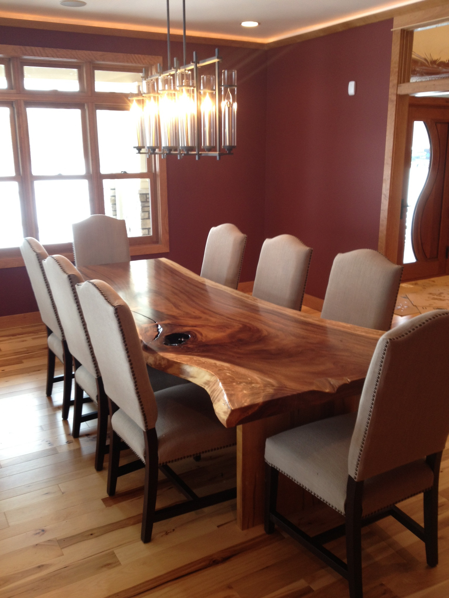 Live Edge Dining Table Modern, Live Edge Dining Room Table