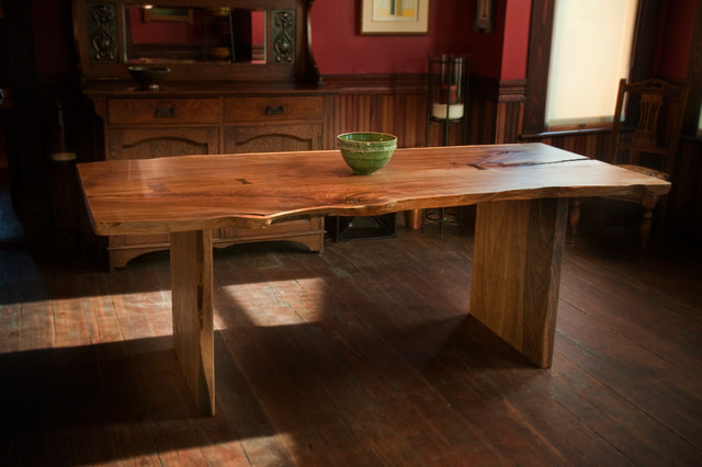 Live Edge Furniture - Rustic - Dining Room - houston - by Greenwood ...