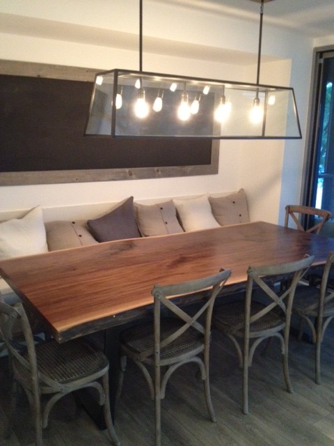 Live Edge Wood Slab Black Walnut Table Arts And Crafts Dining Room