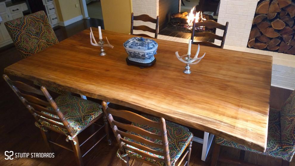 Live Edge Wooden Table Modern Dining Room Huntington
