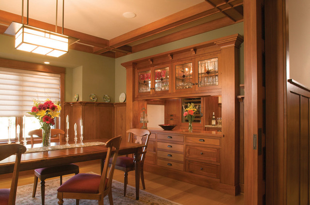 Built In Buffets Beef Up Dining Room Style